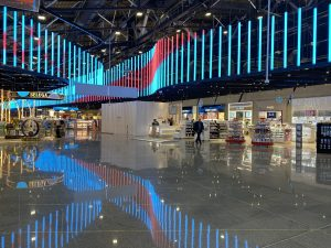 Fit-out of duty free zone. Sheremetyevo airport (Terminal C)